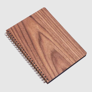 walnut wood notebook