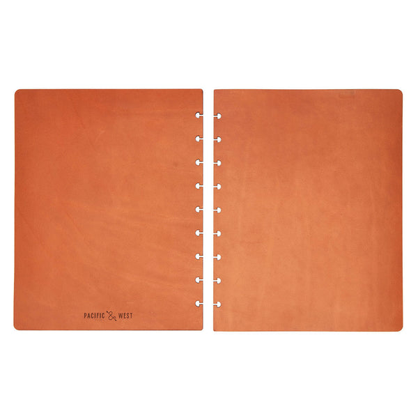 Extra Large Century Covers (Tan) Discbound Journal - Pacific and West