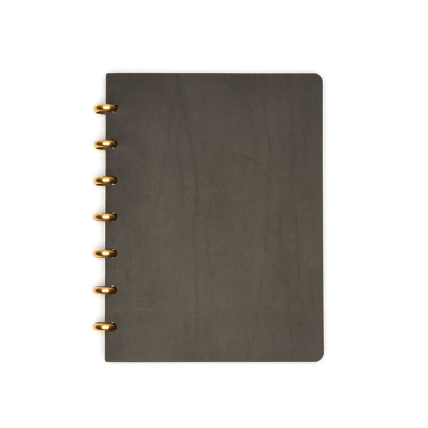 Large Century Leather Notebook (Black) Discbound Journal - Pacific and West