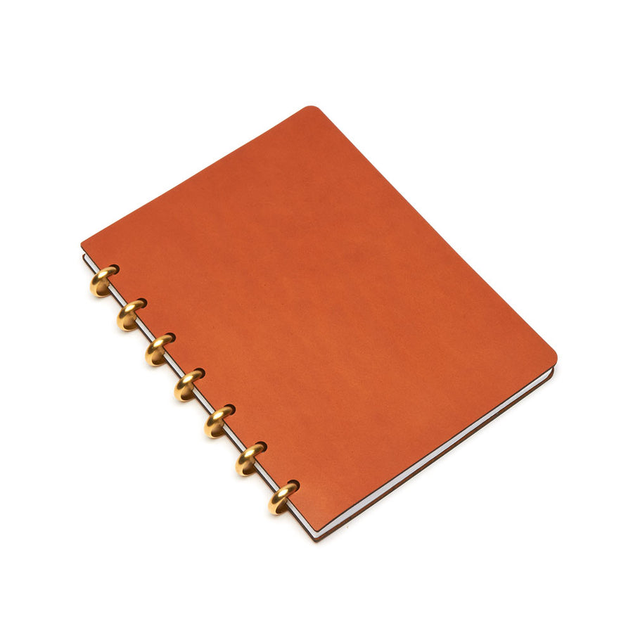Large Century Leather Notebook (Tan) Discbound Journal - Pacific and West