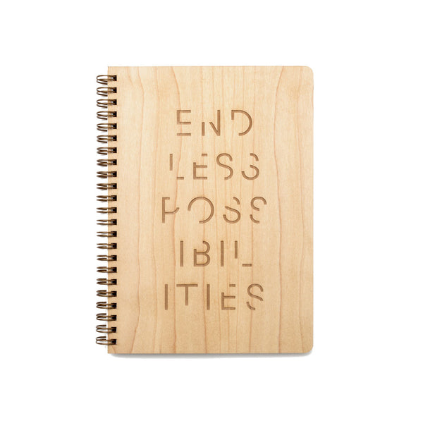 Endless Possibilities Large Wood Notebook (Maple) Discbound Journal - Pacific and West