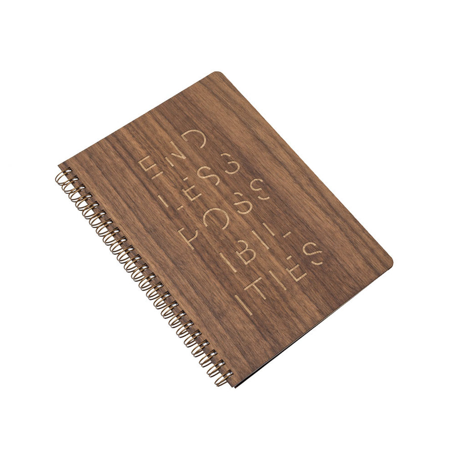 Endless Possibilities Large Wood Notebook (Walnut) Discbound Journal - Pacific and West