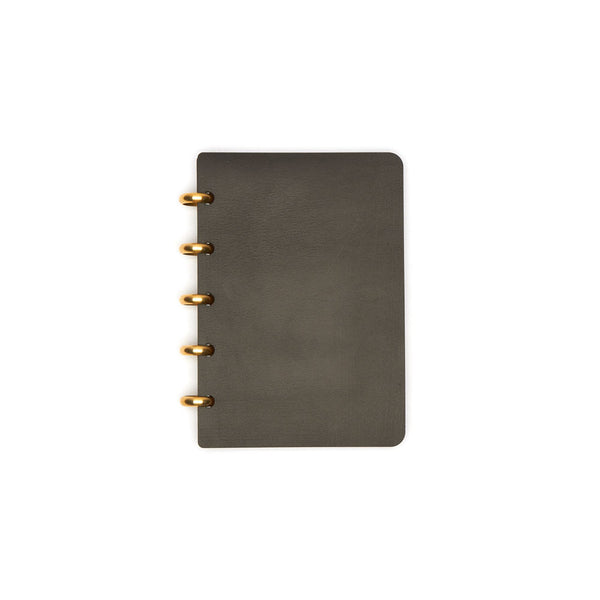 Pocket Century Leather Notebook (Black) Discbound Journal - Pacific and West
