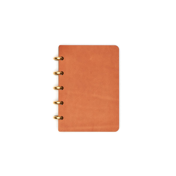 Pocket Century Leather Notebook (Tan) Discbound Journal - Pacific and West