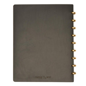 Extra Large Century Leather Notebook (Black) Discbound Journal - Pacific and West