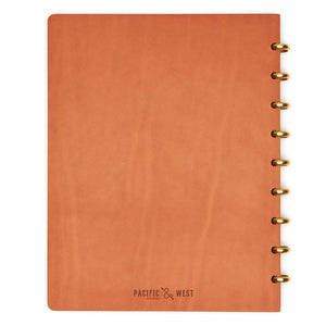 Extra Large Century Leather Notebook (Tan) Discbound Journal - Pacific and West