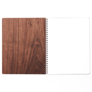 Extra Large Wood Notebook (Walnut) Premium Journal - Pacific and West