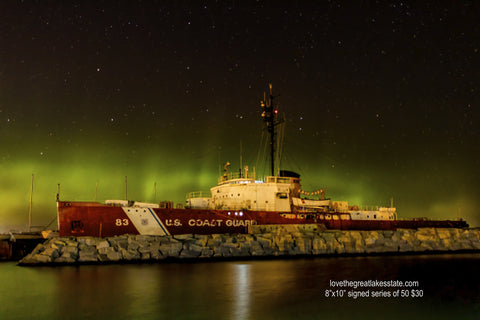 Photo - Northern Lights over Coast Guard Ice Cutter