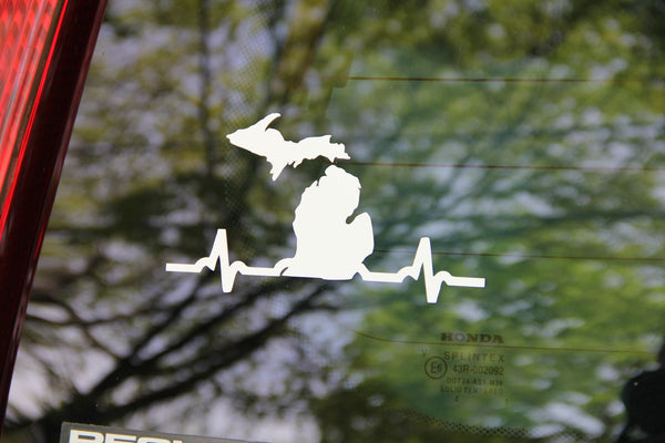 Michigan Heartbeat Decal