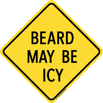 BEARD MAY BE ICY STICKER