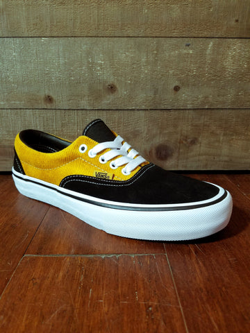 Vans | Era Pro - (Corduroy) Black/Yolk Yellow