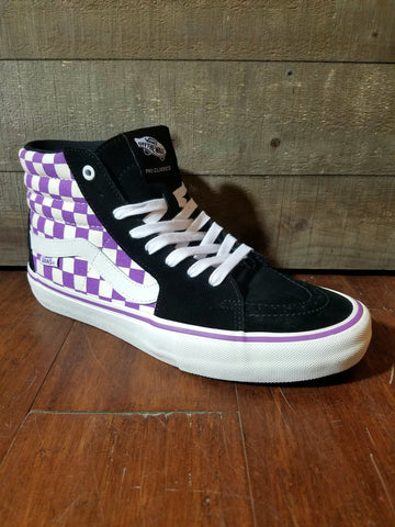Vans | Sk8-Hi Pro - (Checkerboard) Black/Dewberry - THIS Skateshop - Fargo, North Dakota