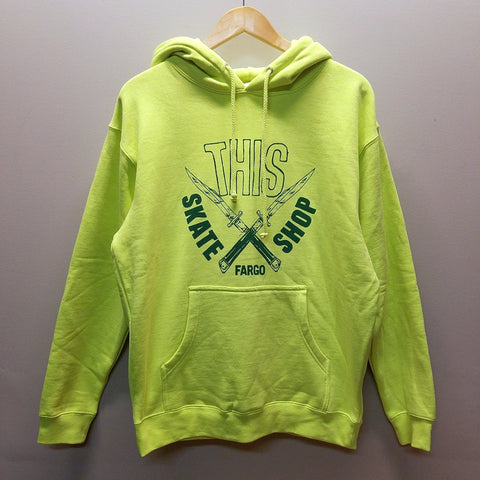 THIS | Daggers Pullover - Fluorescent Yellow/Green Ink
