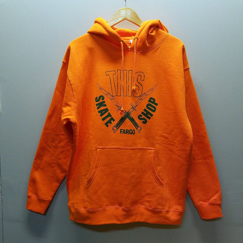 THIS | Daggers Pullover - Fluorescent Orange/Green Ink