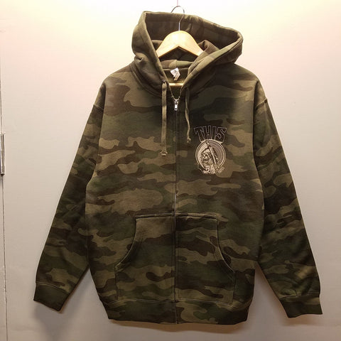 THIS | Chest Reaper Zip-Up - Camo/Vanilla Ink