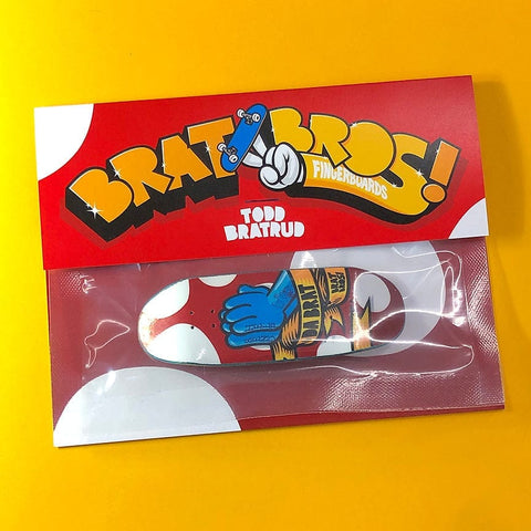 BratBros Fingerboards | Da Bratt Praying Blue Hands