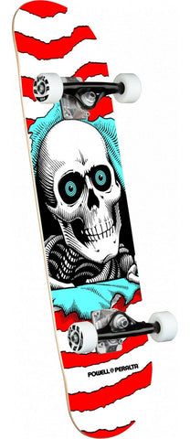 "Powell Peralta | 8"" Ripper One Off Red/White Complete Skateboard"