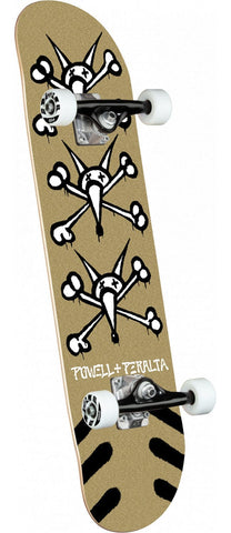 "Powell Peralta | 8"" Vato Rats Gold/White Complete Skateboard"