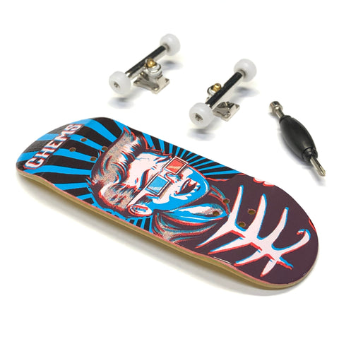 Chems - 3D Kid Blue Rays Fingerboard Complete