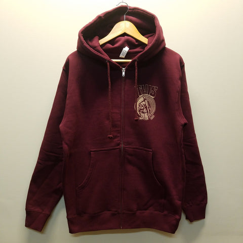 THIS | Reaper Chest Logo Zip-Up - Maroon - THIS Skateshop - Fargo, North Dakota
