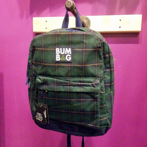 Bumbag | Green Plaid Backpack