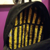 Bumbag | Black - Black/Yellow Striped Inside Backpack