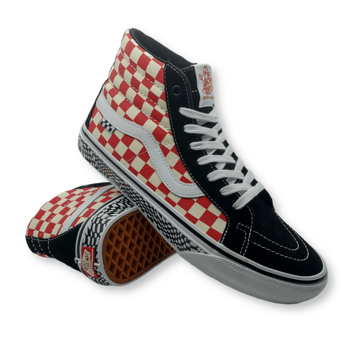 Vans | Skate Sk8-Hi Reissue - Grosso '84 Black/Red Checkers