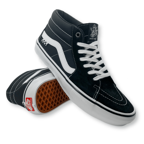 Vans | Skate Grosso Mid - Black/White/Emo Leather
