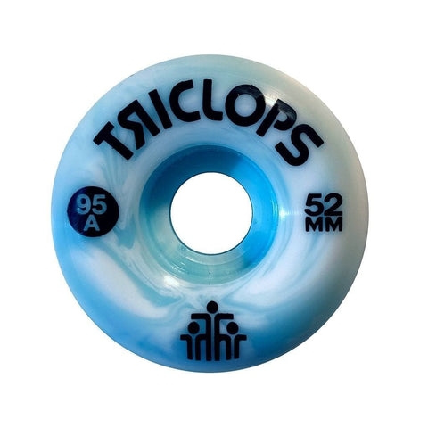 Triclops Wheels | 52mm/95a - Blue Marbles Conical