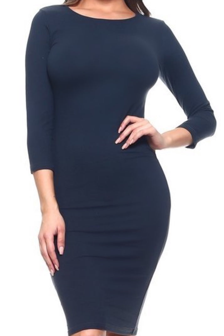 Jules Navy Layering Dress