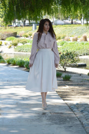 Thea Beige Full Skirt