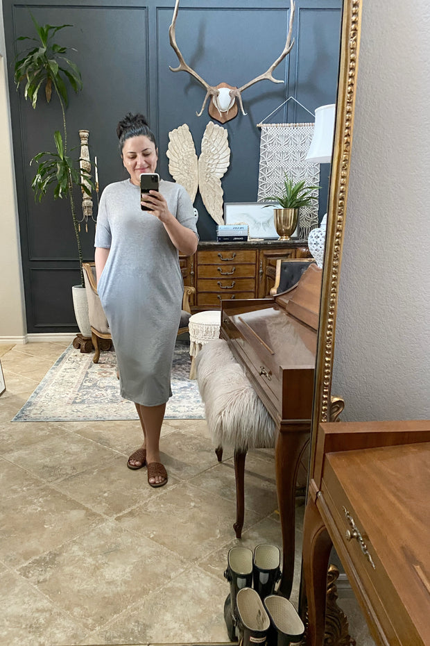 Melly Heather Gray Dress