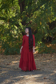 Marbella Deep Red Maxi Dress