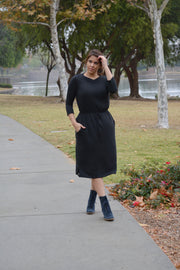 Aria Black Jogger Dress