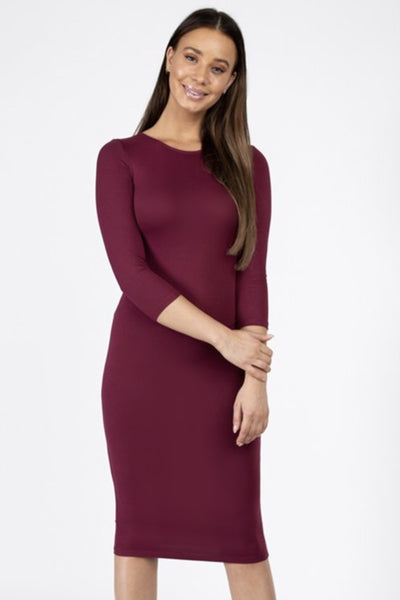 Katy Burgundy Layering Dress