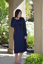 Madelyn Navy Knit Dress