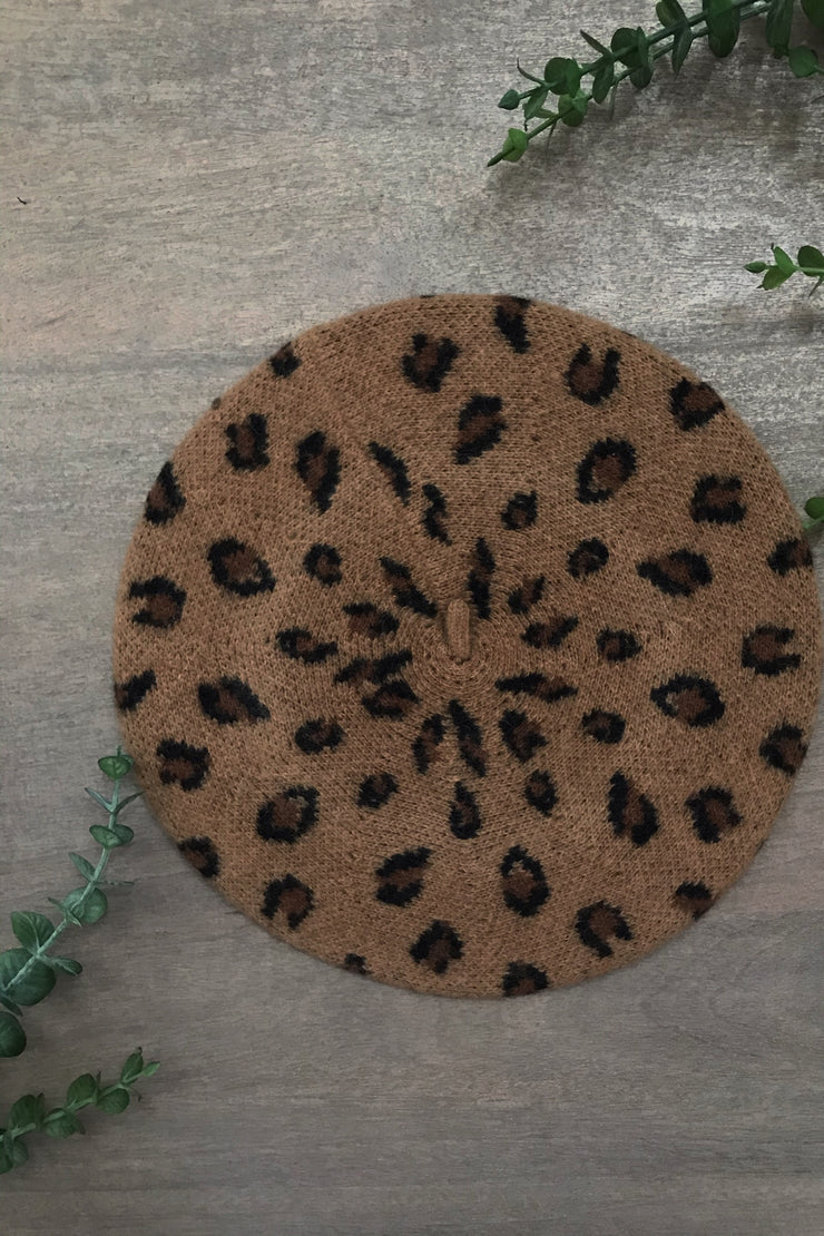 Blythe Leopard & Solid Adult Sized Berets