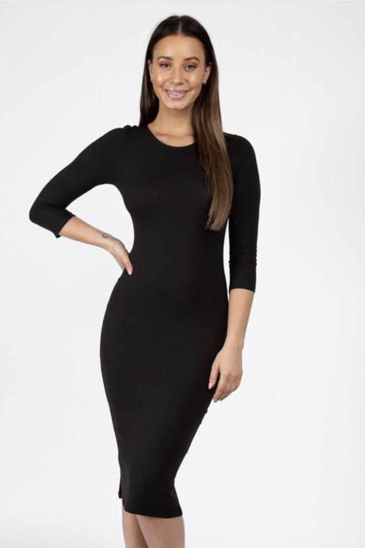 Katy Black Layering Dress