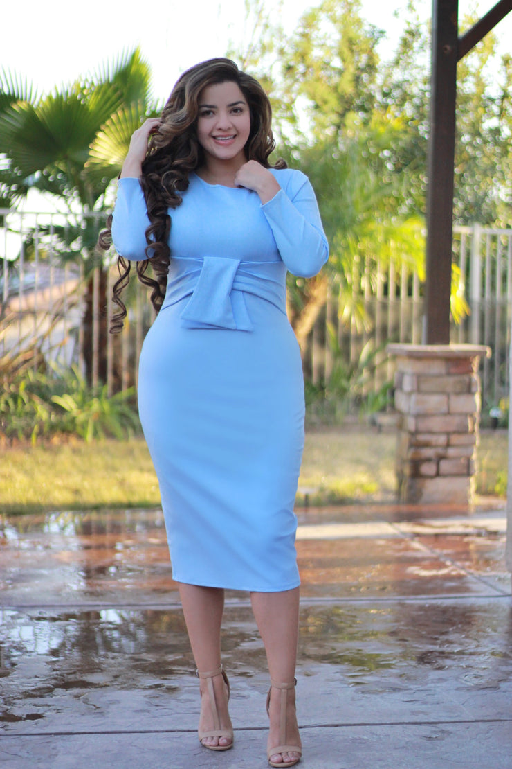 London Powder Blue Dress