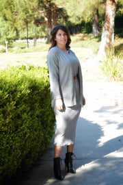 Adele Gray Sweater Dress Set