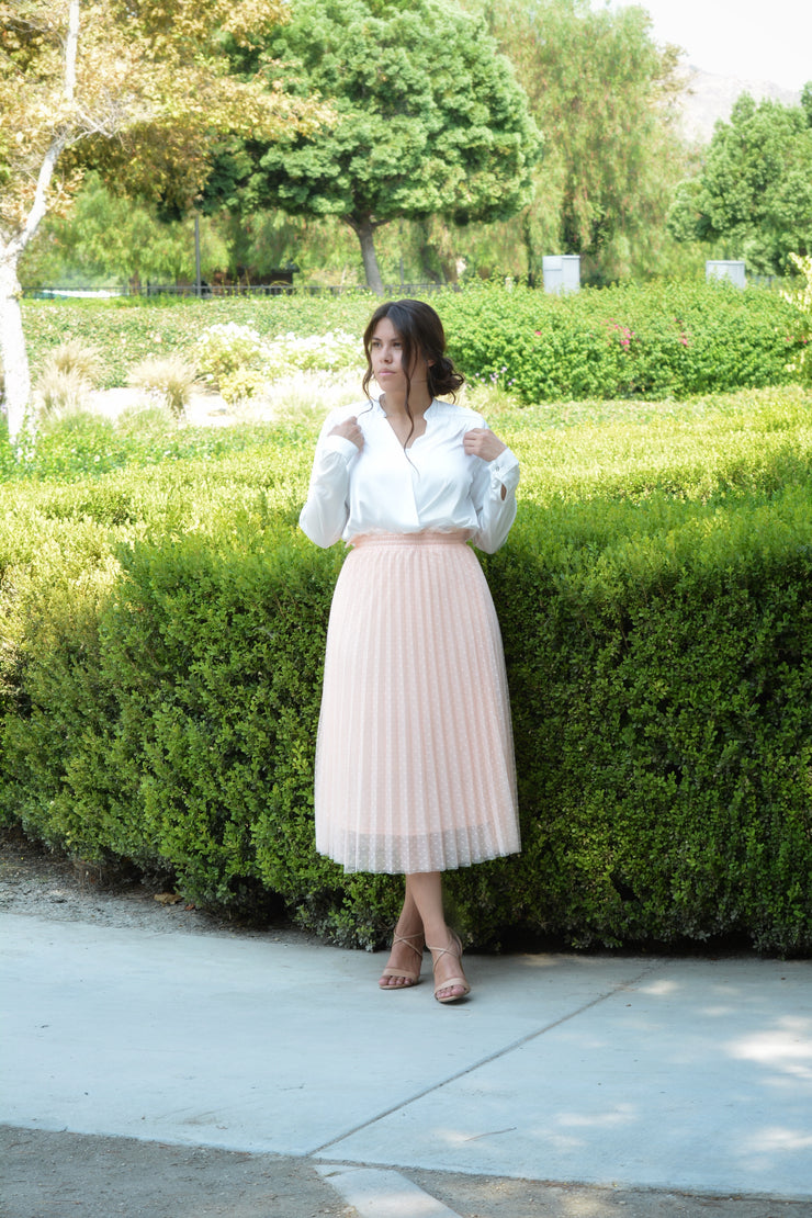 Bay Blush Tulle Skirt