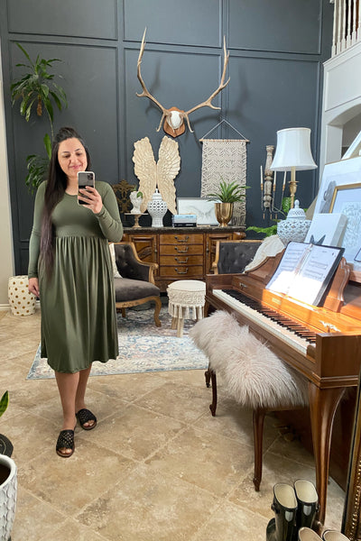 Karly Olive Green Dress