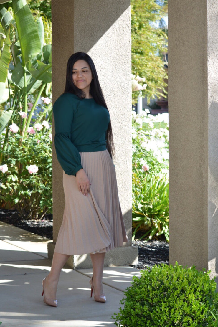 Lauren Beige Skirt