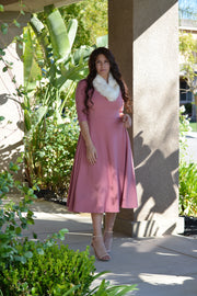 Millie Mauve Full Midi Dress
