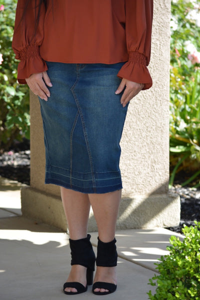 Aliah Denim Skirt