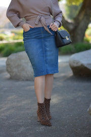 Justine Denim Skirt (sewed hem)