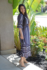 Lindi Navy Stripe Dress