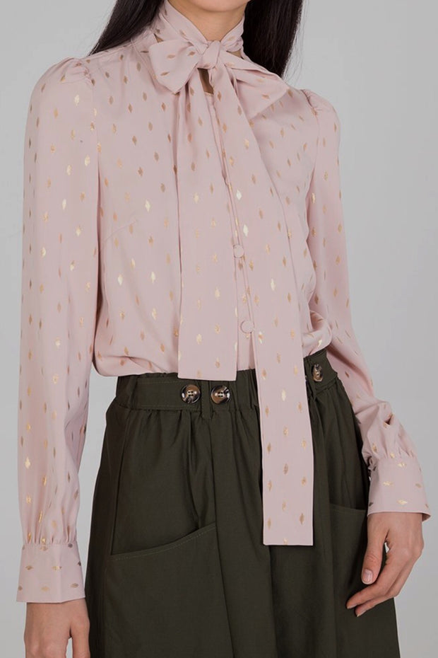 Patience Blush Gold Dot Top