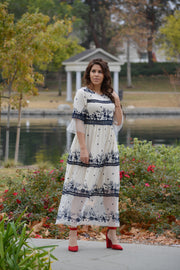 Ember Ivory Embroidered Dress