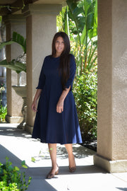 Hilda Navy Dress